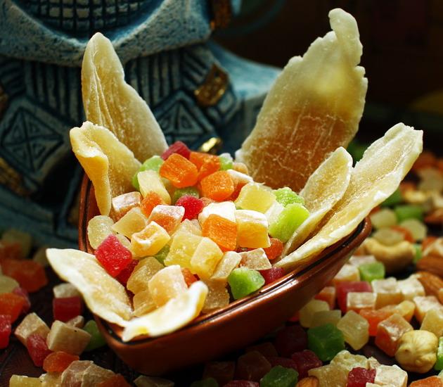 Цукаты MIX (Ананас, манго, папайя, вишня, дыня)